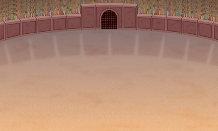 Background illustration of a coliseum arena.