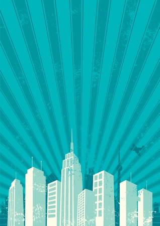 Vintage city background Stock Vector - 10526678