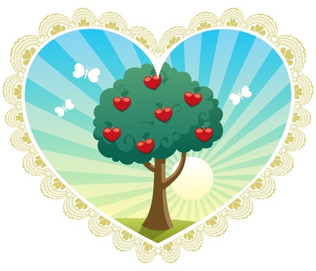 Greeting card for Saint Valentines Day. No transparency used. Basic (linear) gradients.  Vector