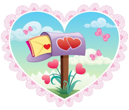 Greeting card for Saint Valentines Day. No transparency used. Basic (linear) gradients.