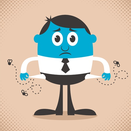 faillite: Illustration conceptuelle illustrant la faillite. Pas de transparence et des d�grad�s utilis�s. Illustration