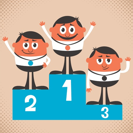 clipart podium: Conceptual illustration for winning   No transparency and gradients used