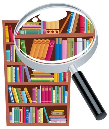lezing: Conceptuele illustratie voor onderzoek. Geen transparantie gebruikt. Basis (lineaire) gradiënten. Stock Illustratie