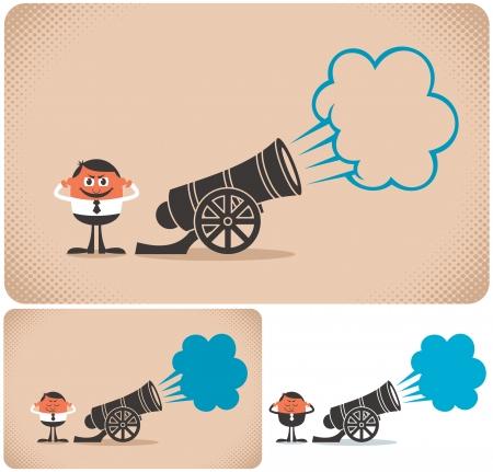 Cannon y cannoner Ilustración de vector