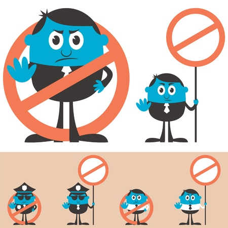 Cartoon character forbidding you to do something. Stock Vector - 15361439