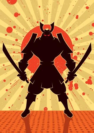 samoerai: Cartoon illustratie van Samoerai