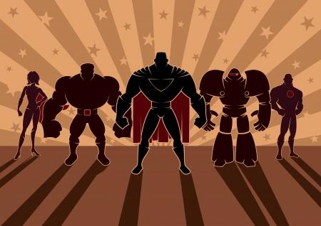 영웅의 팀 일러스트