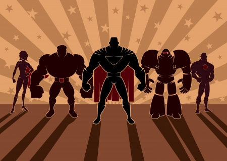 super guy: Team of heroes