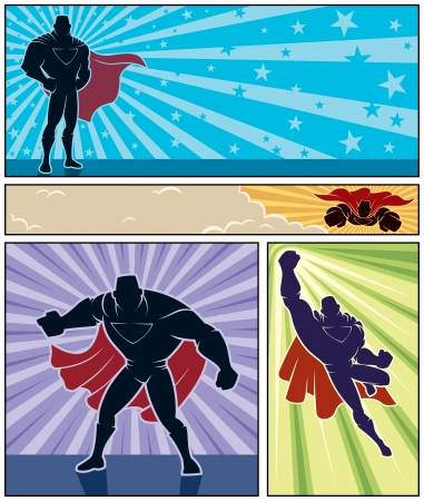 Set of hero banner Vector
