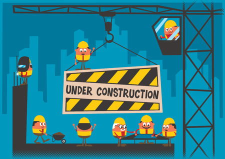 Under Construction achtergrond Stock Illustratie