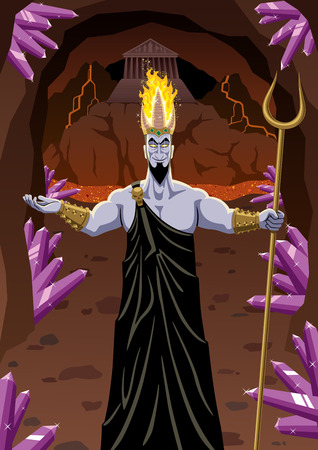 Hades welcomes you to the Underworld. No transparency used. Basic (linear) gradients. Vector