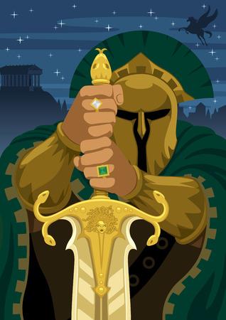 pegasus: Chrysaor - hijo de Medusa y el hermano de Pegaso. Sin transparencia utilizada.