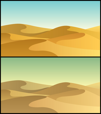 desert landscape: Desert landscape in 2 color versions.