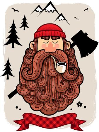 logger: Illustration of lumberjack.