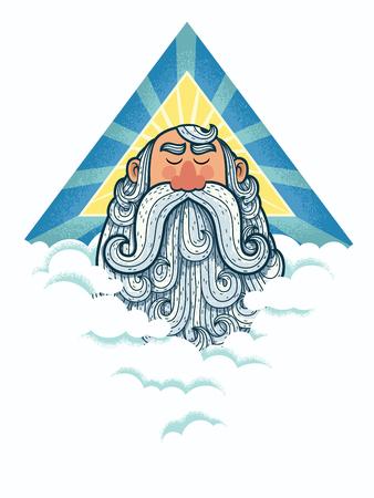 heavenly: Portrait of God in his heavenly domain. Illustration