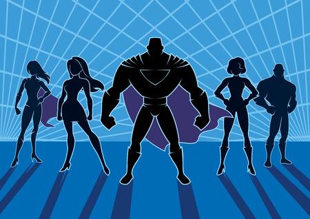 Quipe de super-héros. Banque d'images - 83176463