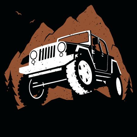 Off-Road Mountain. Ilustração