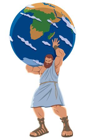 El Titan Atlas sosteniendo el globo terráqueo.