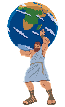 The Titan Atlas holding the Earth globe.