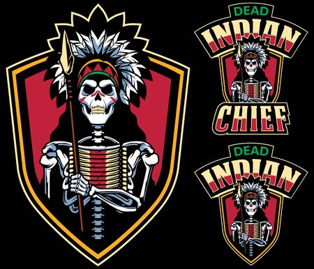 Cartoon mascot with dead Indian tribal chief.