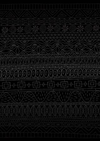 Hand drawn African pattern executed in minimal black. NOT seamless.