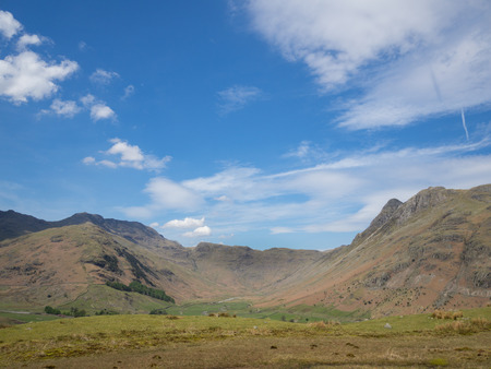 English Lake District, Langdale looking down Mickleden on a sunny day
