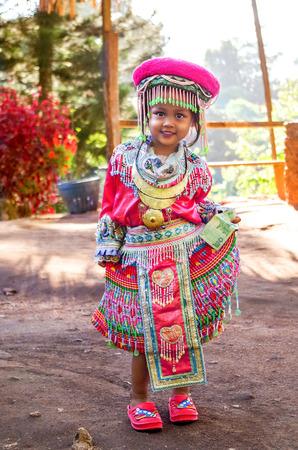 Cute Little Girl On The Street Redakční