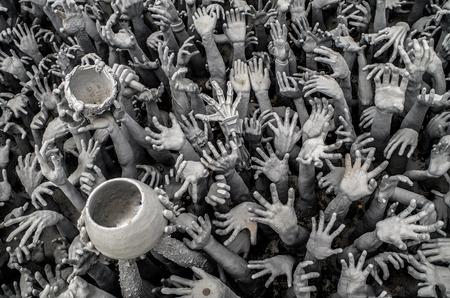 Hands Genocide Beggar Poverty Reklamní fotografie