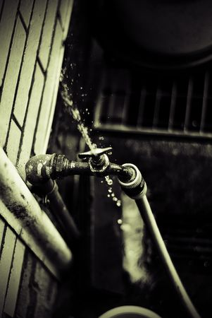 watertap: On the picture you can see a water-tap which is slightly defect