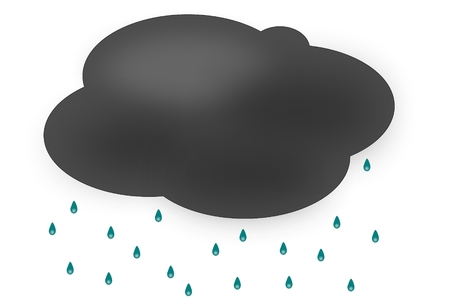 Rain Cloud Stock Vector - 7605841