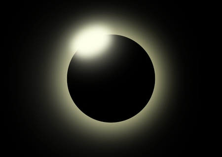 moon eclipse: This image shows a solar eclipse.  Illustration