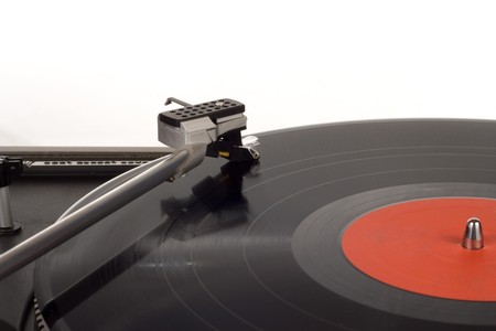 The picture shows a record player.  Stock Photo - 8273832