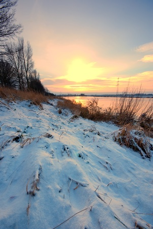 The picutre shows a landscape at winter. Stock Photo - 8443560