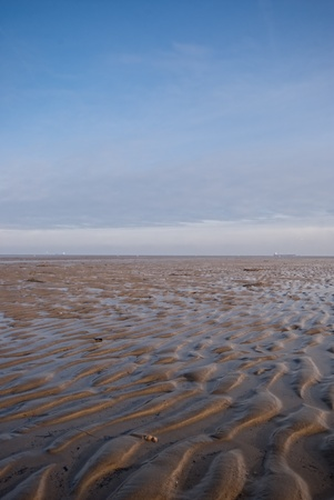 german ocean: The picture shows the Wadden Sea at the North Sea. Stock Photo