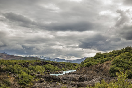 unspoilt: The picture shows a rough landscape in Iceland.