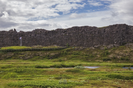 unaffected: The picture shows a rough landscape in Thingvellir National Park in Iceland.