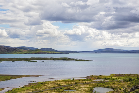 unaffected: The picture shows the view of the lake Thingvallavatn at Thingvellir, Iceland.