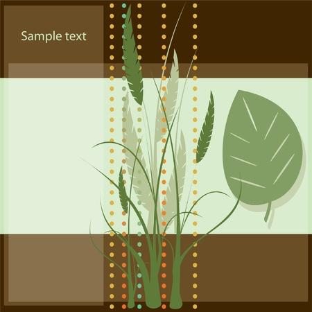 tiling background: Vector floral background leaf card