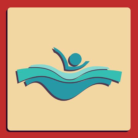 deign: symbol of swimming pool