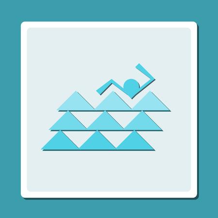 symbol of swimming pool  Vector