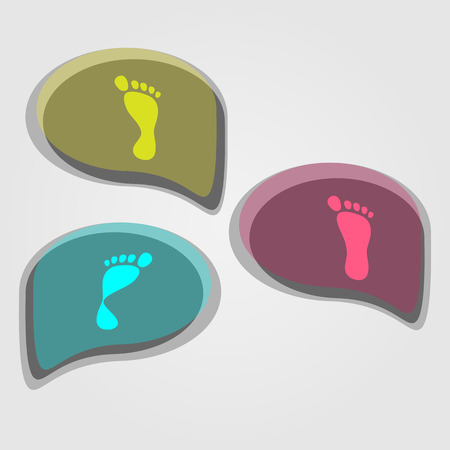 modern icons set of pronation of the foot  Vector