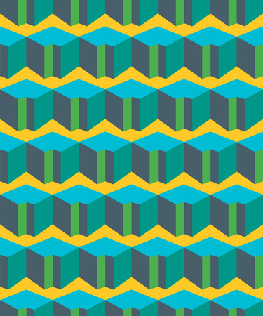 textil: Colorful geometric flat seamless pattern Vettoriali