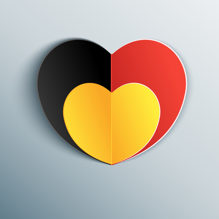 commemoration: Belgian flag heart in commemoration of the victims of the Brussels terrorist attack