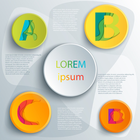 abcd: Vector elements for infographic. Template for diagram, graph, presentation and chart. Business concept with 4 options, parts, steps or processes. Abstract background. ABCD icons template.