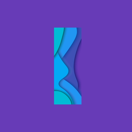 point i: Letter i design template element. Material design Character i vector logo, icon and sign.