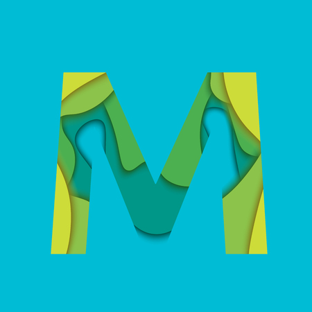 char: Letter L design template element. Material design Character M, icon and sign.