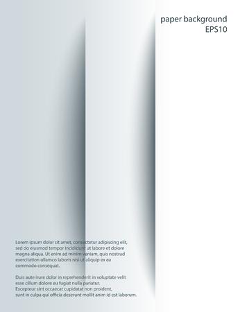 lineas verticales: Dos cortes verticales en papel con tonos. Vector resumen de antecedentes. incisión 3d. Vectores