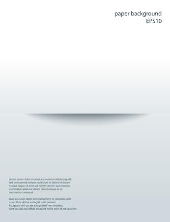 Horizontal Cut in paper with shade. Vector abstract background. 3d incision. Vektoros illusztráció