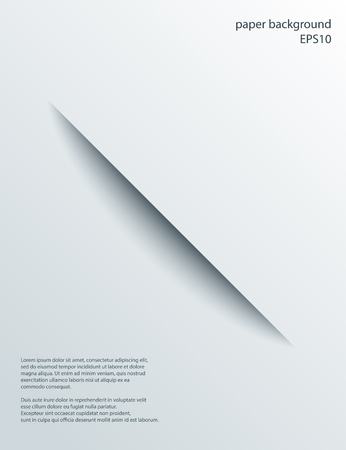severance: Diagonal Cut in paper with shade. Vector abstract background. 3d incision. Illustration
