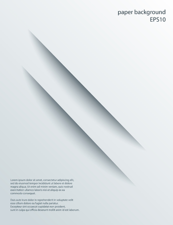 Two Diagonal Cuts in paper with shade. Vector abstract background. 3d incision. Ilustrace
